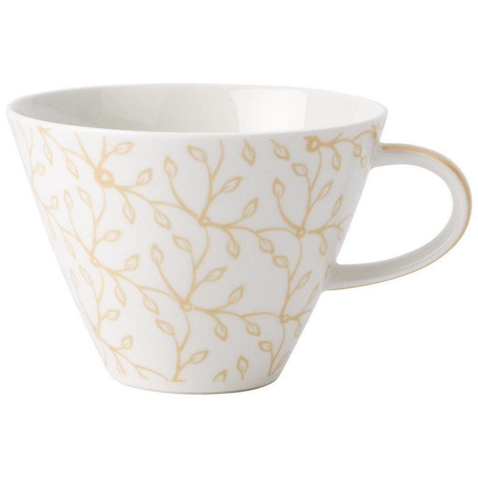 VILLEROY & BOCH Café au lait Obertasse »Caffè Club Floral vanille« in Dekoriert