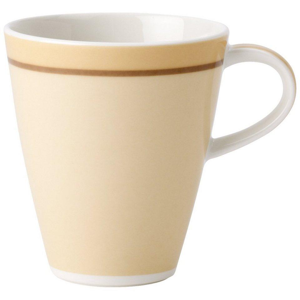 VILLEROY & BOCH Becher mit Henkel klein »Caffè Club Uni vanille« in Dekoriert