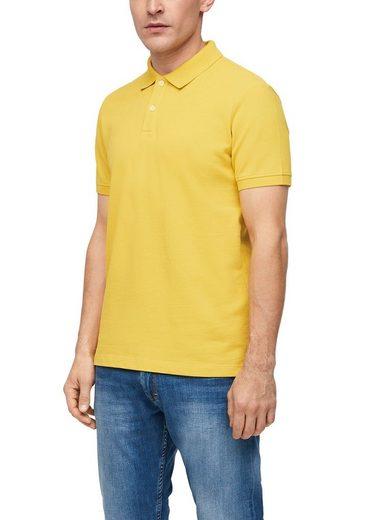 s.Oliver Poloshirt mit Logostickerei