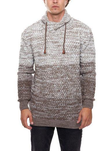 Cipo & Baxx Rundhalspullover »CIPO & BAXX Strick-Pullover kuschliger Herren Freizeit-Pullover Winter-Pullover Braun«