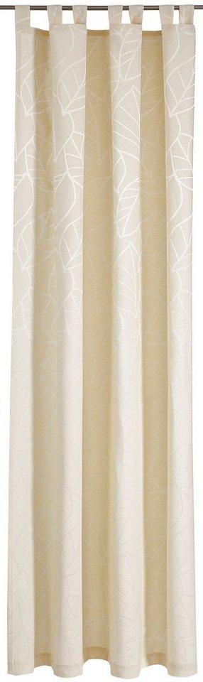 Vorhang, Deko trends, »Palmea«, mit Schlaufen (1 Stück) in natur/wollweiß