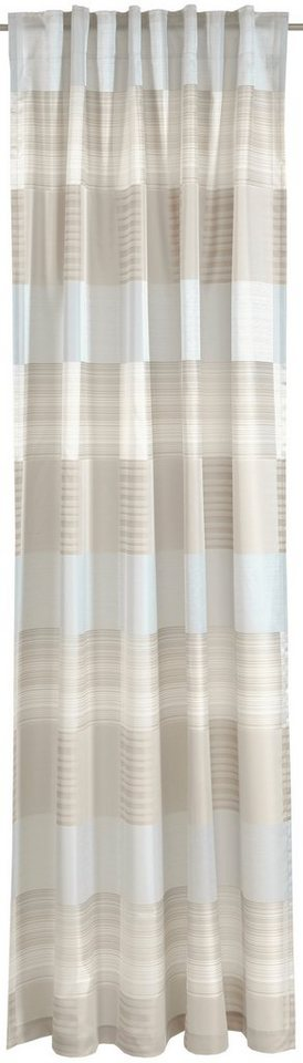 Vorhang, Deko trends, »Comino«, mit verdeckten Schlaufen (1 Stück) in beige/grau
