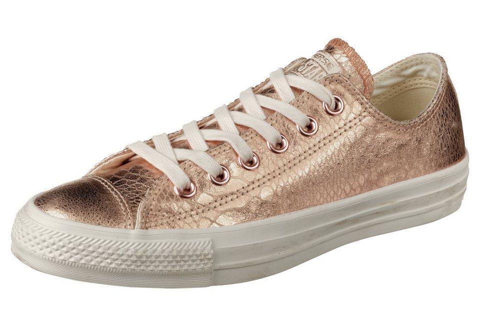 Converse All Star Snake Ox Sneaker in Goldfarben