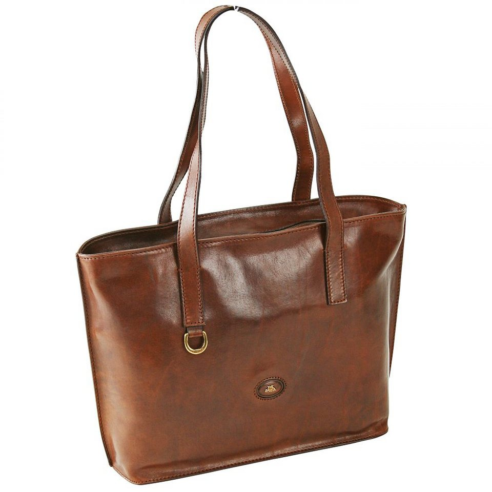 The Bridge Story Donna Export Shopper Umhängetasche Leder 39 cm in marrone
