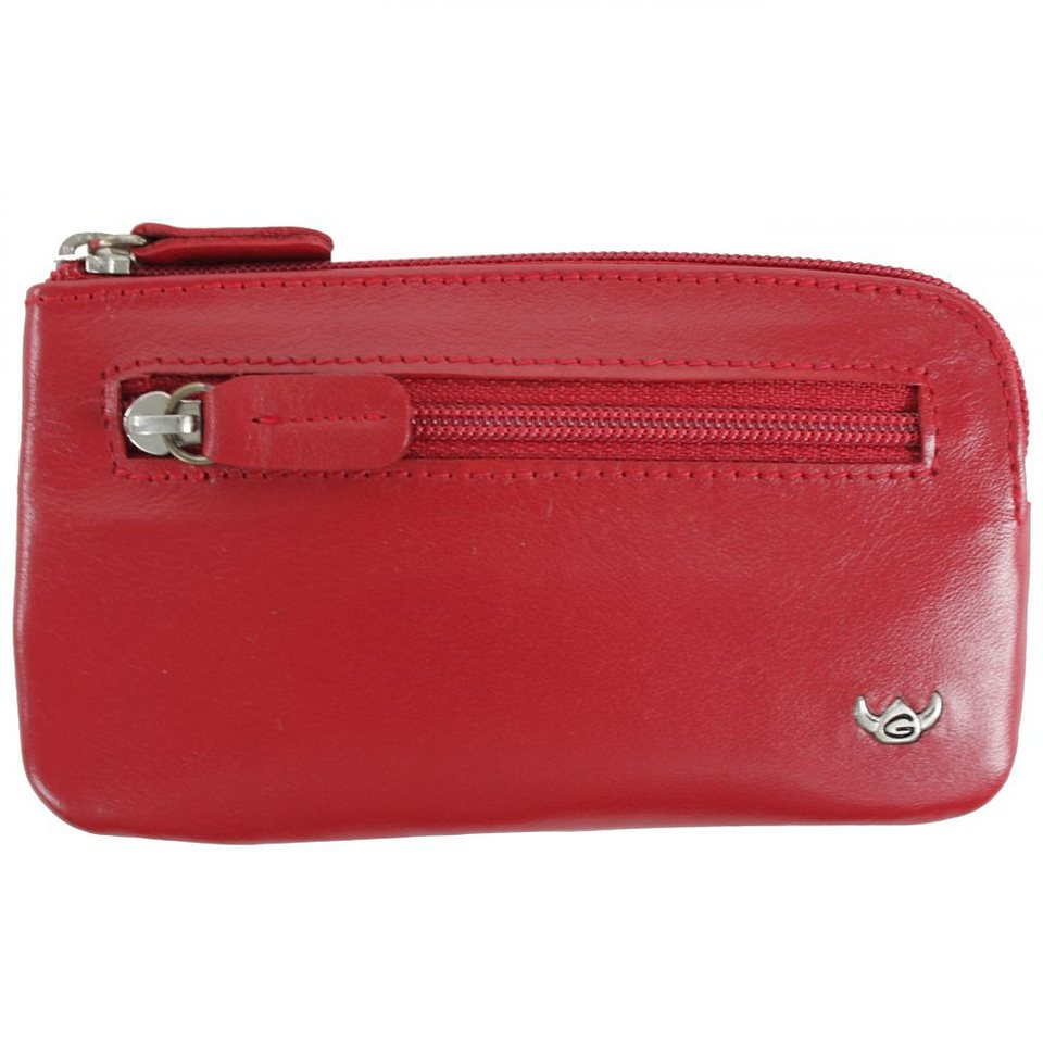 Golden Head Polo Schlüsseletui 13 cm Leder in rot