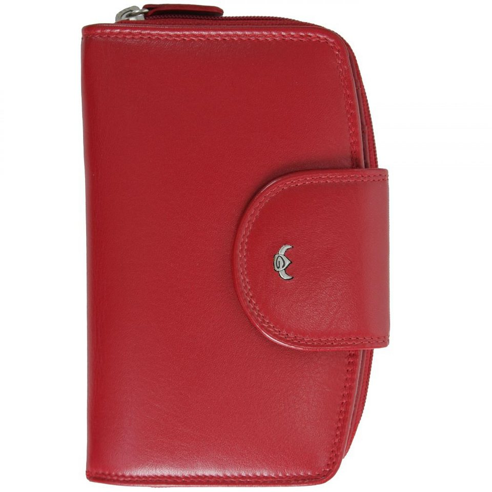 Golden Head Polo Geldbörse 9,5 cm Leder in rot