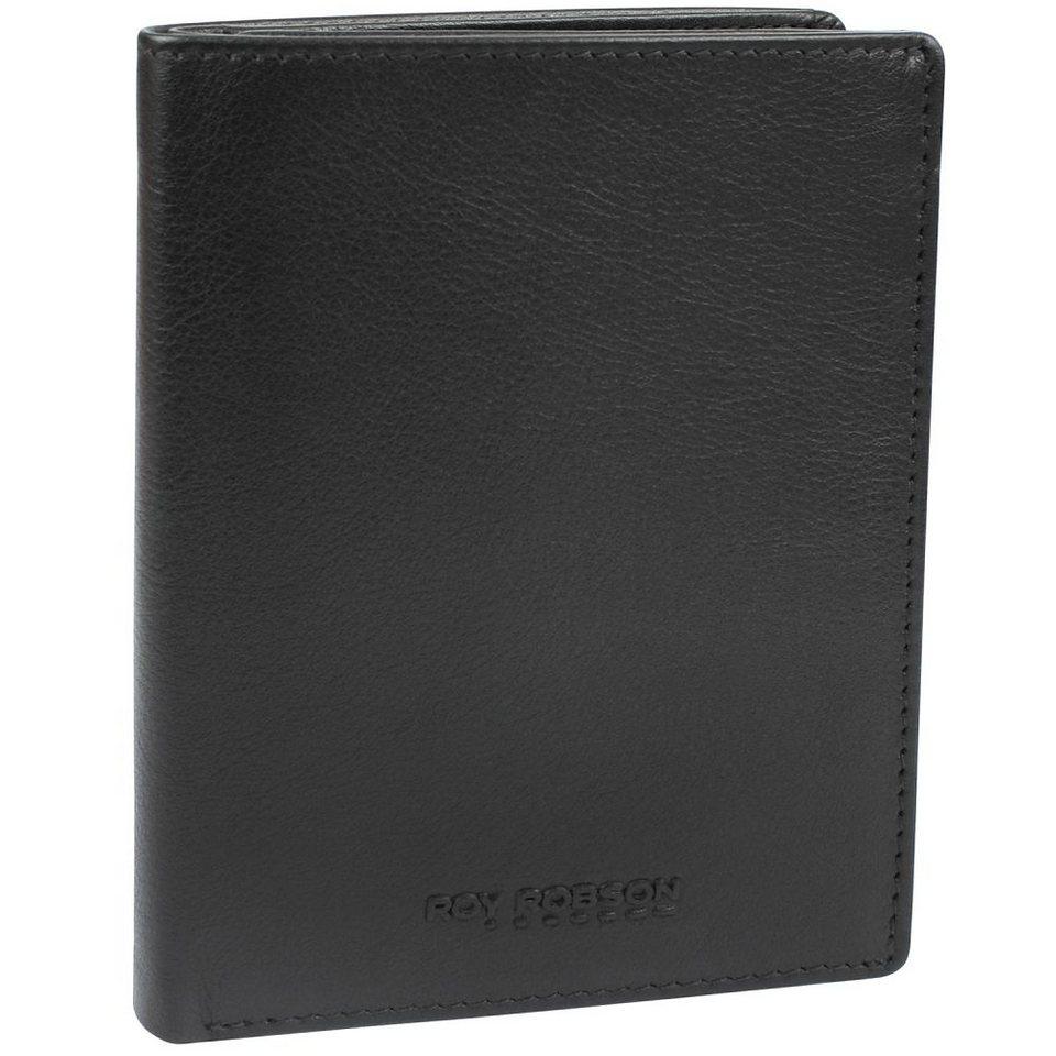 Roy Robson Drive Geldbörse Leder 9,5 cm in schwarz