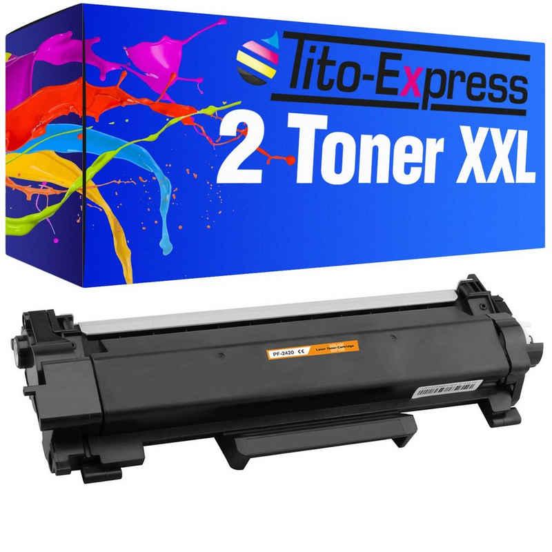 Tito-Express PlatinumSerie Tonerpatrone »2er Set ersetzt Brother Toner TN-2420 TN2420 Mega-XXL (6.000 Seiten)«