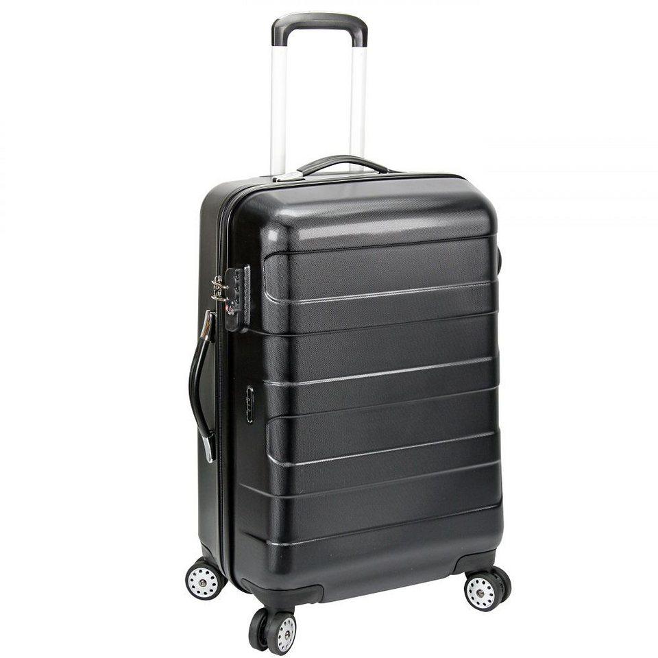 d & n Travel Line 8600 4-Rollen Trolley 61 cm in schwarz