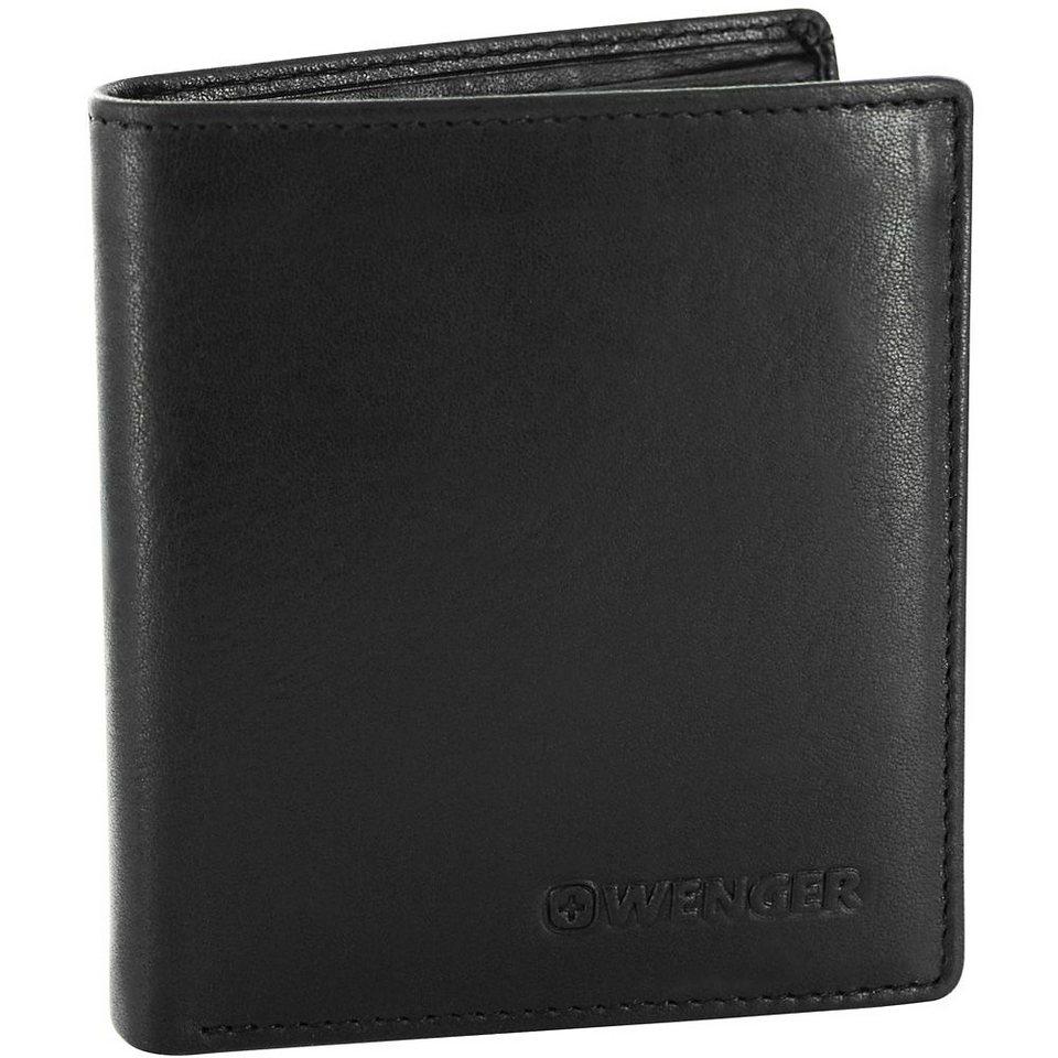 Wenger Rautispitz Geldbörse Leder 9,5 cm in schwarz