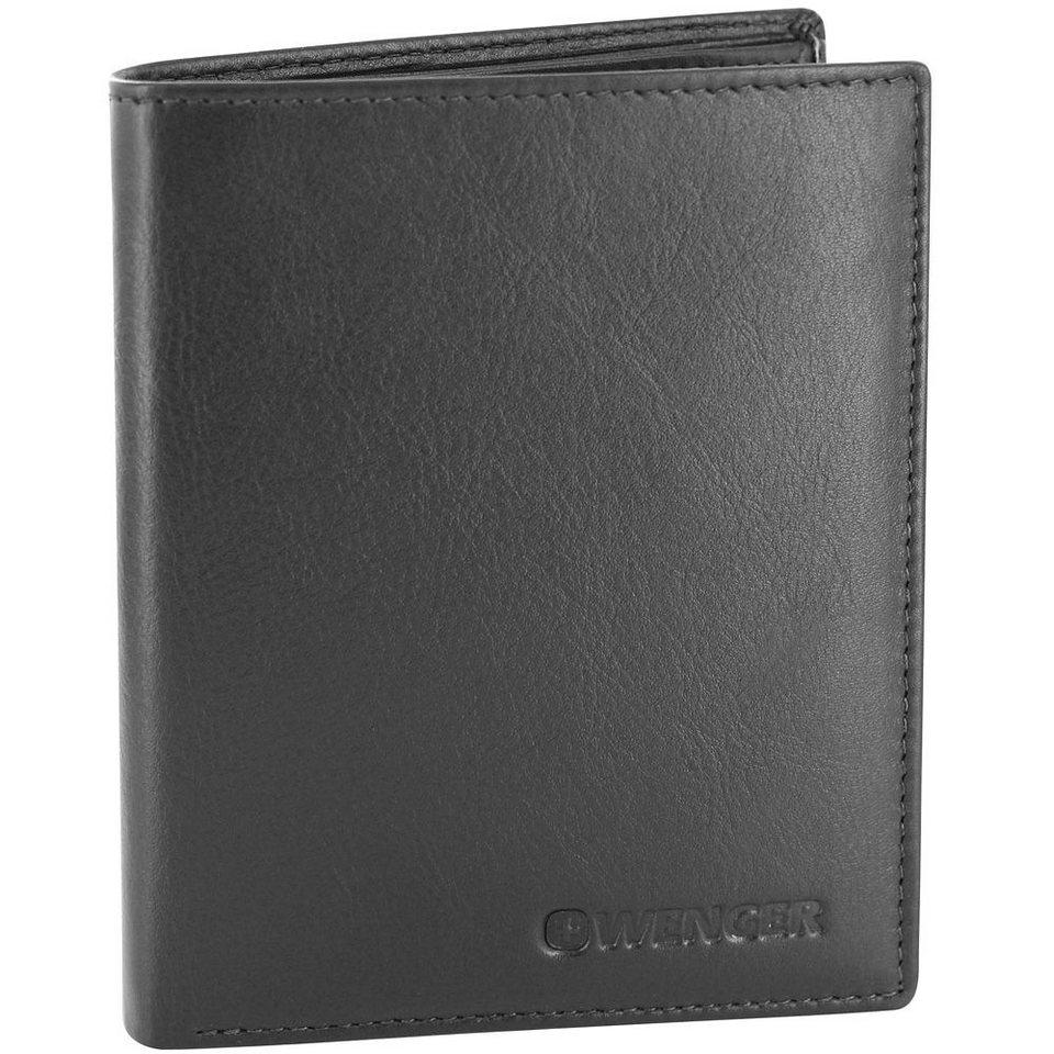 Wenger Alphubel Geldbörse Leder 9,5 cm in schwarz