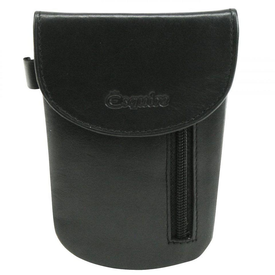 Esquire Silk Schlüsseletui Leder 8 cm in schwarz