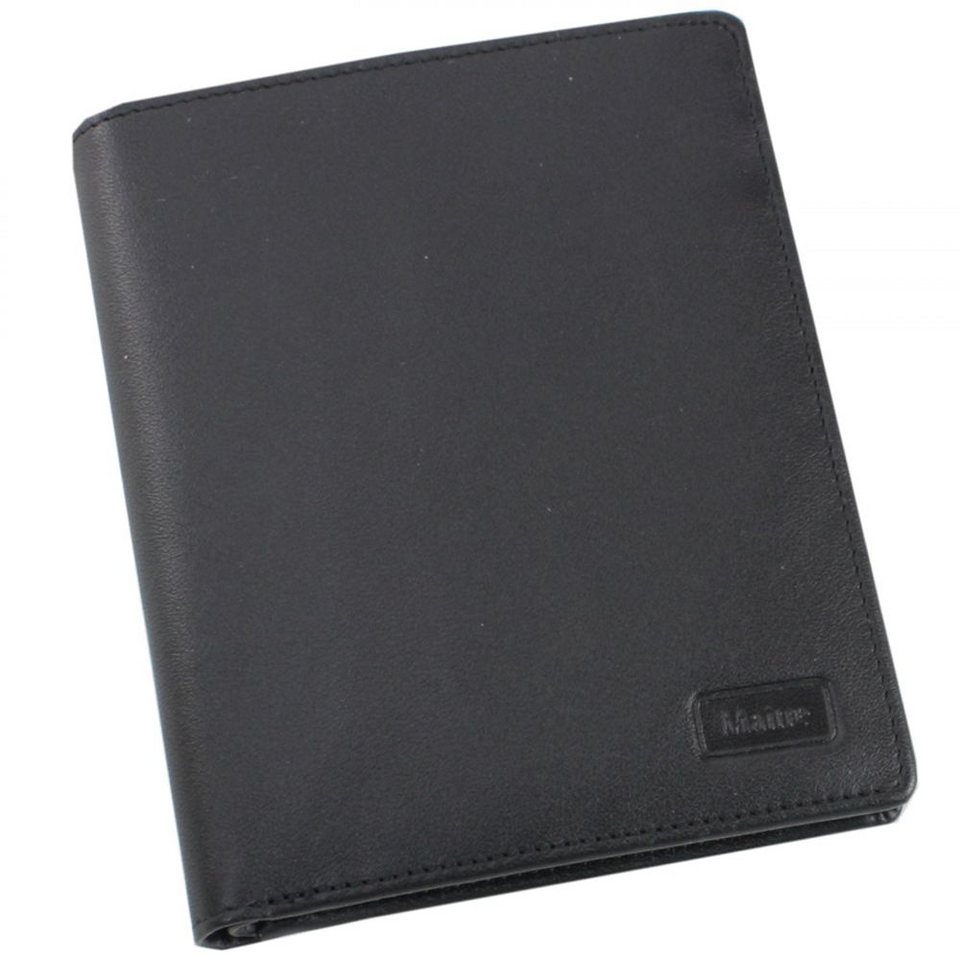 Maître f3 Geldbörse Leder 10 cm in schwarz