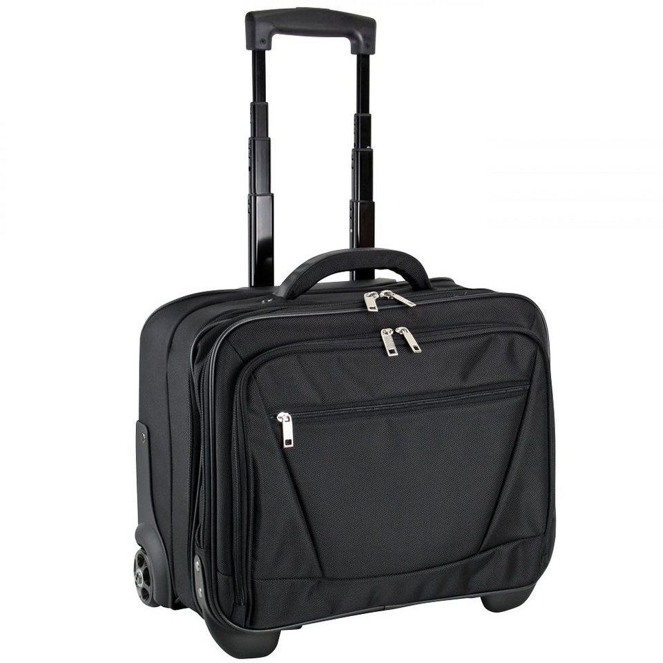 d & n Business & Travel Business Trolley 42 cm Laptopfach in schwarz