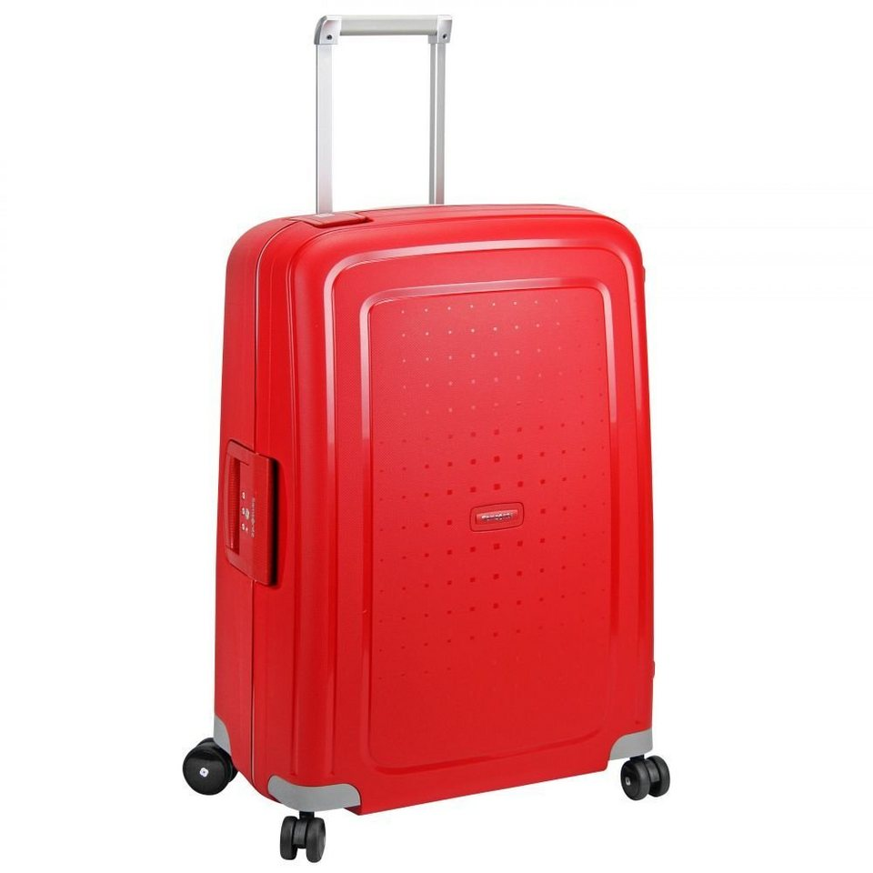 Samsonite S'Cure Spinner 4-Rollen Trolley 69 cm in crimson red