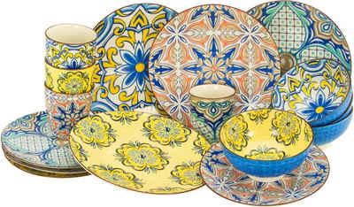 CreaTable Kombiservice »Aladin« (16-tlg), Steinzeug, orientalische Motive