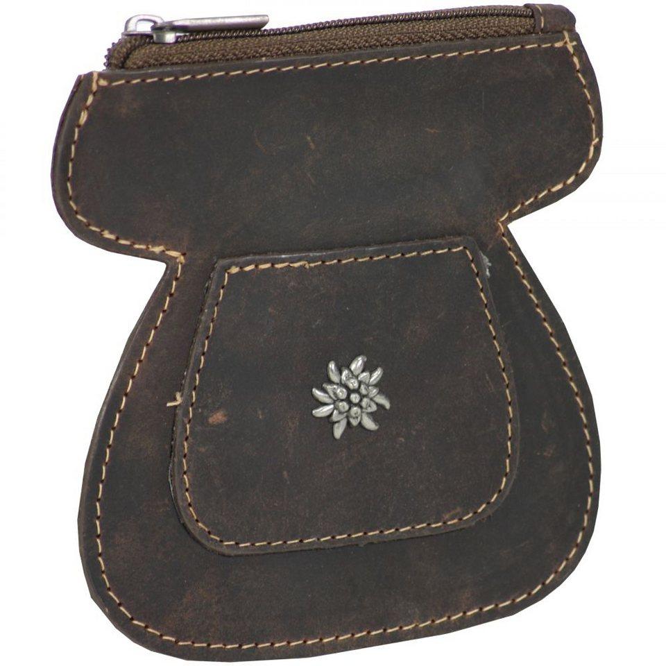Greenburry Vintage Dirndl-Gürteltasche Leder 10,5 cm in dunkelbraun