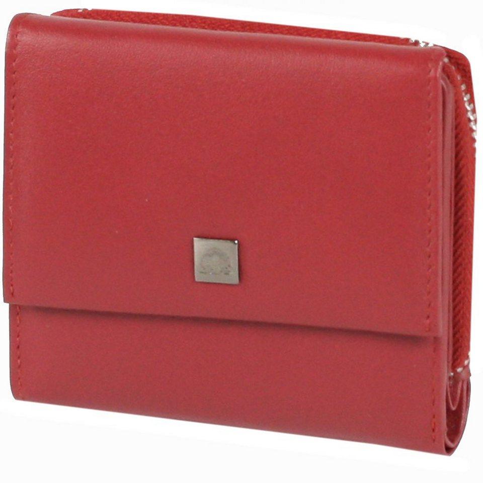 Greenburry Spongy Geldbörse Leder 10,5 cm in red