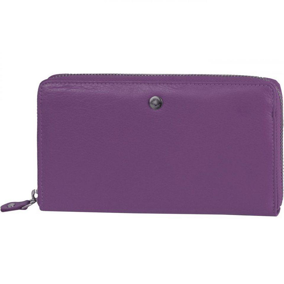 Greenburry Spongy Geldbörse Leder 19 cm in purple