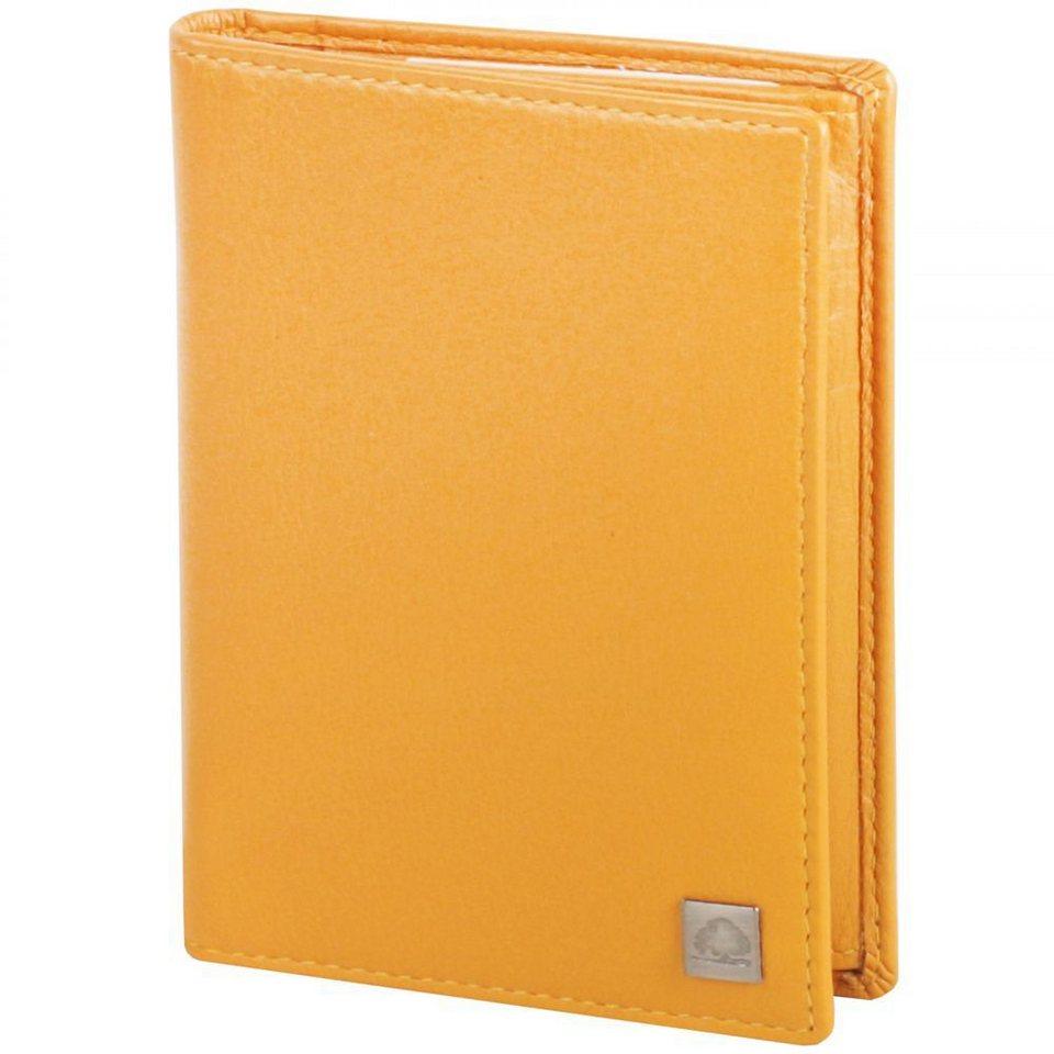 Greenburry Spongy Ausweisetui Leder 9 cm in yellow