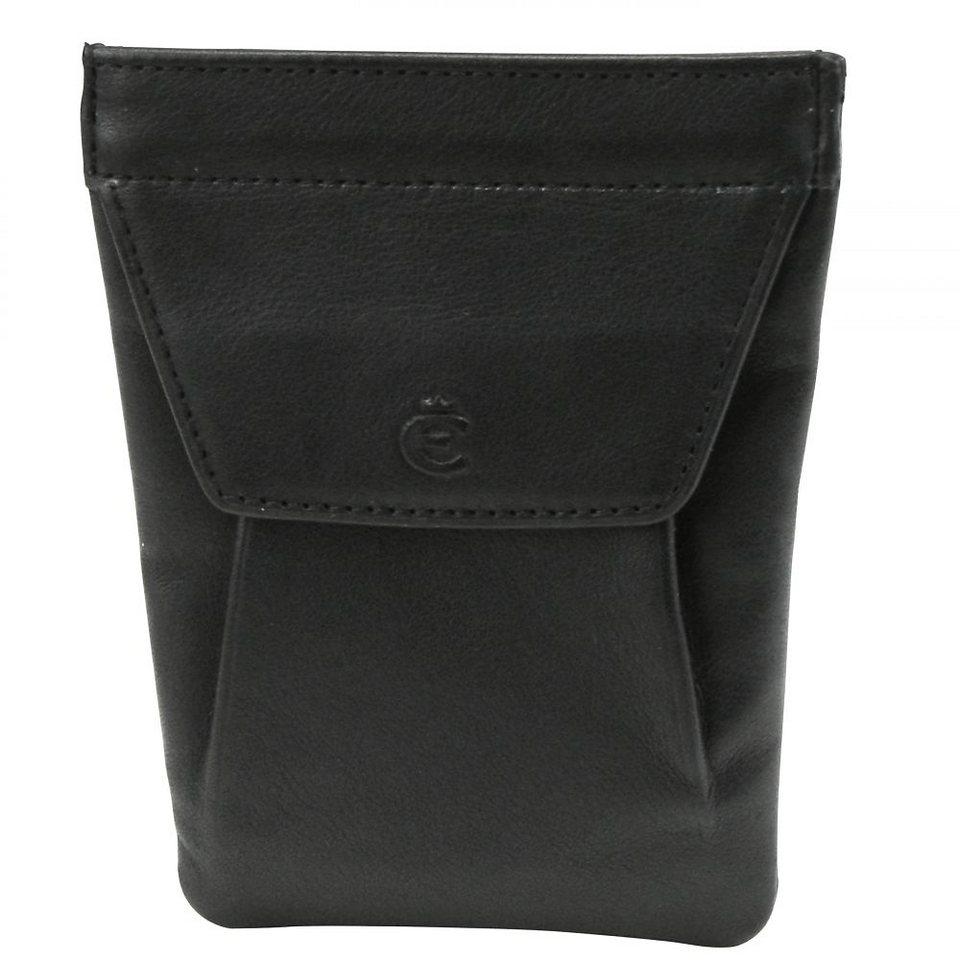 Esquire Logo Schlüsseletui Leder 8 cm in schwarz