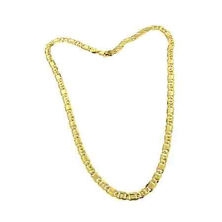 firetti Halsschmuck: Halskette in Achter-Panzerkettengliederung, 6-fach diamantiert