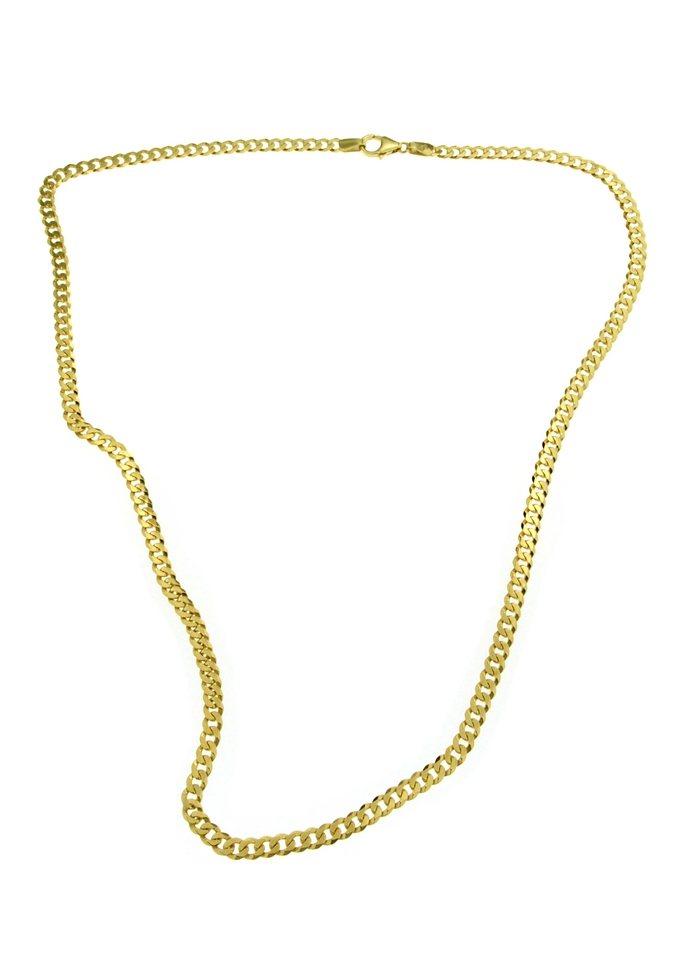 firetti Halsschmuck: Halskette in Panzerkettengliederung, 6-fach diamantiert in Gelbgold 375