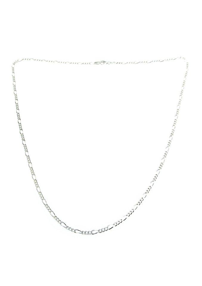 firetti Halsschmuck: Halskette / Collierkettchen in Figarokettengliederung, 2-fach diamantiert in Silber 925