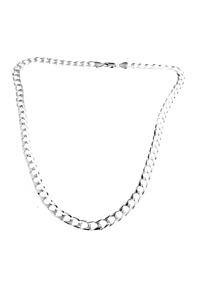 firetti Halsschmuck: Halskette in Panzerkettengliederung, 4-fach diamantiert in Silber 925