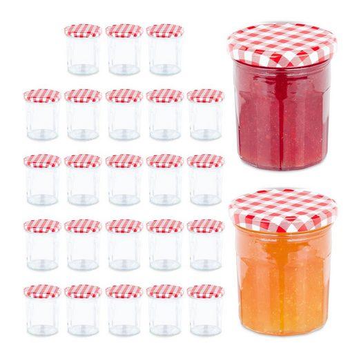 relaxdays Einmachglas »Marmeladengläser 25er Set«, Glas
