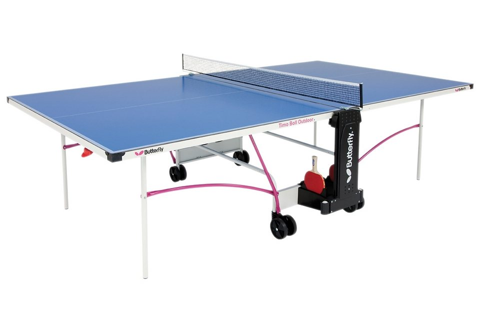 TT-Tisch, Butterfly, »OUTDOOR TABLE TIMO BOLL «, internationales Turniermaß in blau