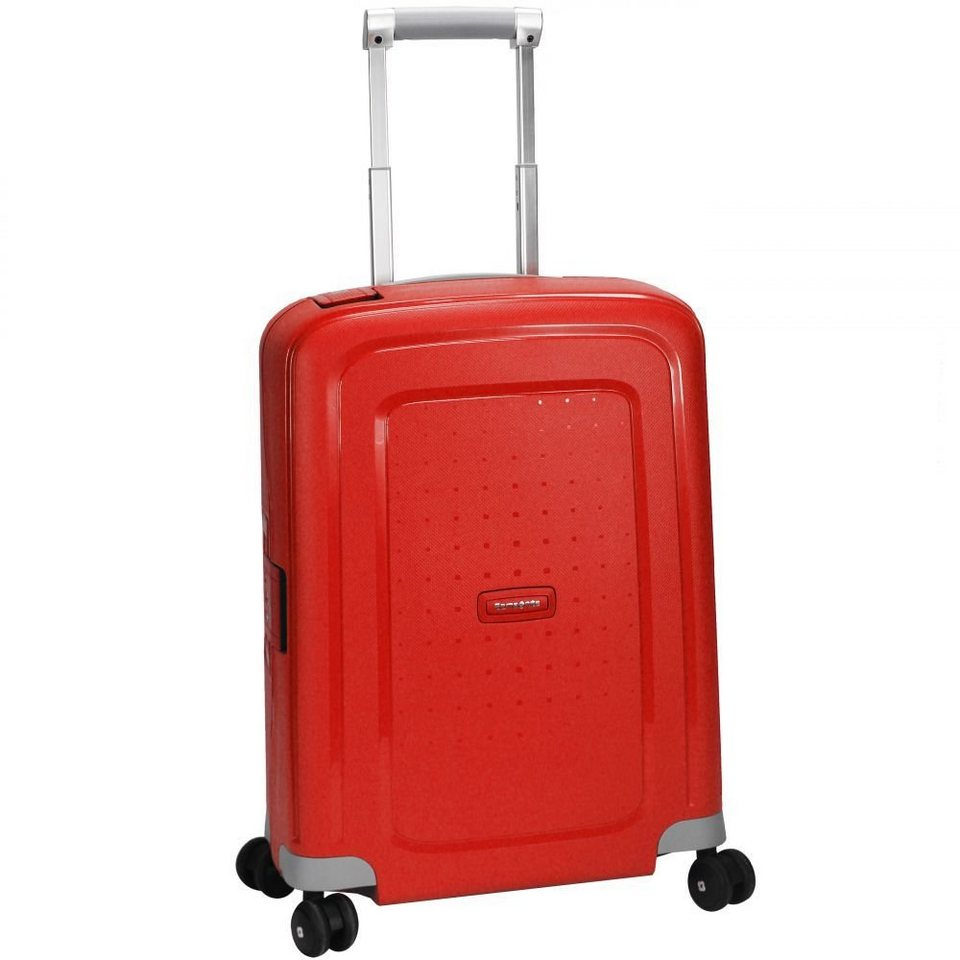 Samsonite S'Cure Spinner 4-Rollen Kabinen-Trolley 55 cm in crimson red