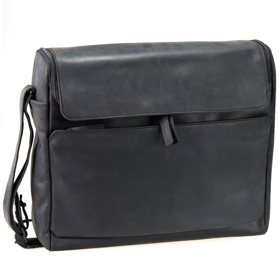 Harold's Campo Laptoptasche Leder 39 cm in schwarz