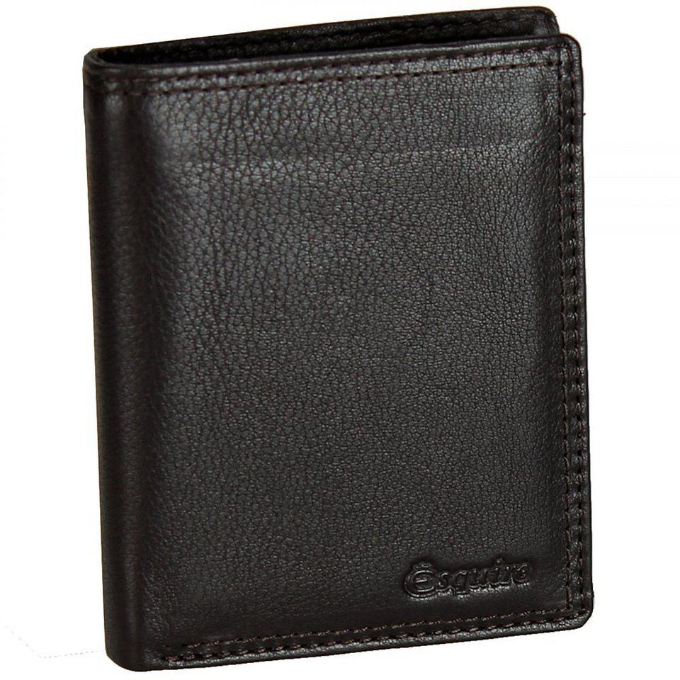 Esquire Duo Geldbörse Leder 9 cm in brown