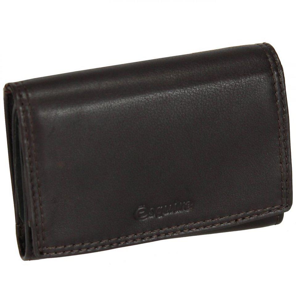 Esquire Duo Geldbörse Leder 11 cm in brown