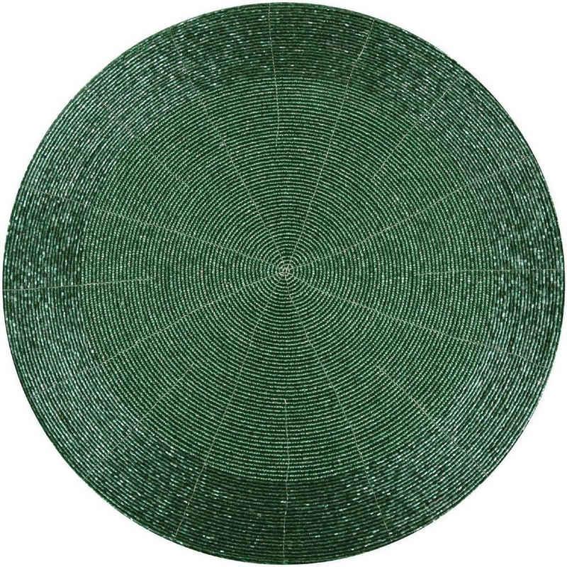 Platzset, »TS-10905«, Bestlivings, Glasperlen Tischset, abwischbar, Ø36cm aus 100% Glas, Tischdekoration, festlich, Platzset mit Perlen