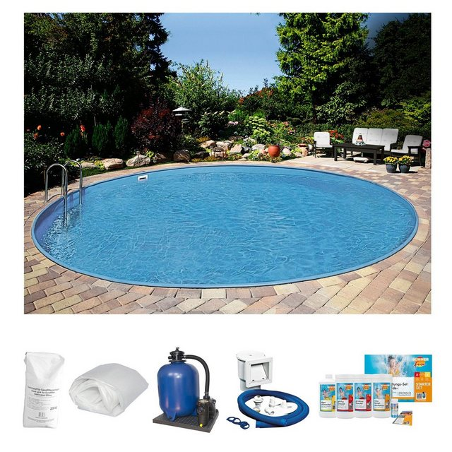 Clear Pool Rundpool Premium Komplett-Set Ibiza 6-tlg. (Spar-Set 2)