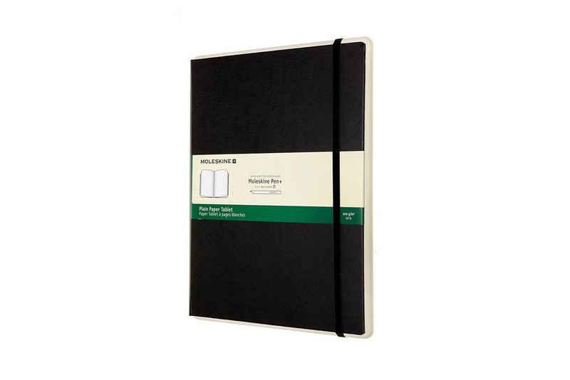 MOLESKINE Grafiktablett, Papertablet - Fester Einband - Papertablet XL (19x25) - Blanko / Schwarz