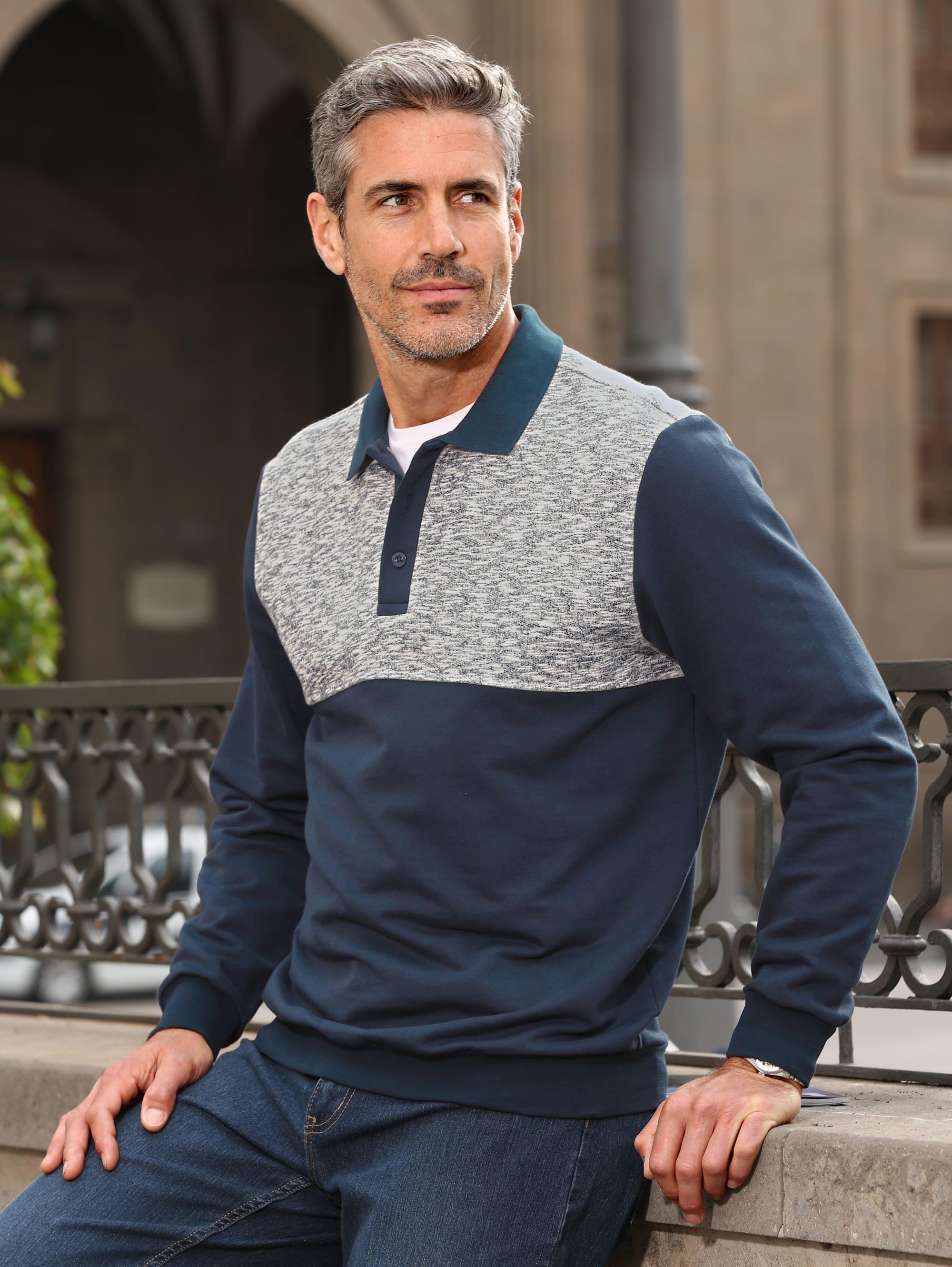Roger Kent Sweatshirt mit Kontrasteinsatz kaufen
