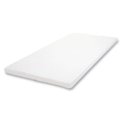 Matratzenauflage »MCW-E63-6«, MCW, 6 cm hoch, Textil, Kaltschaum, Härtegrad H3, Unterseite mit Antirutsch-Noppen, Bezug waschbar bei 30 Grad, Abnehmbarer Bezug
