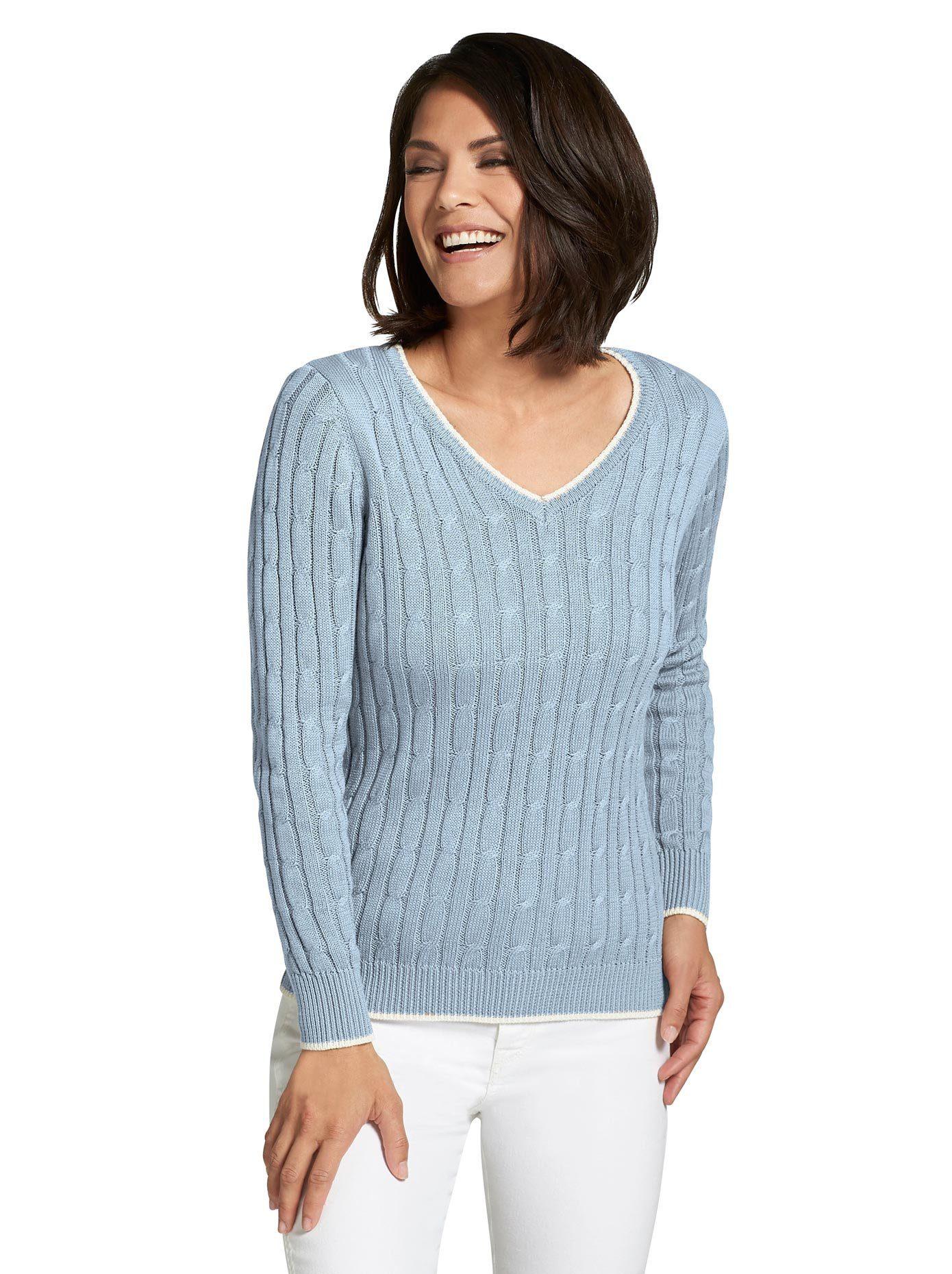 Casual Looks Pullover mit V Ausschnitt, Lässiger Pullover online kaufen | OTTO