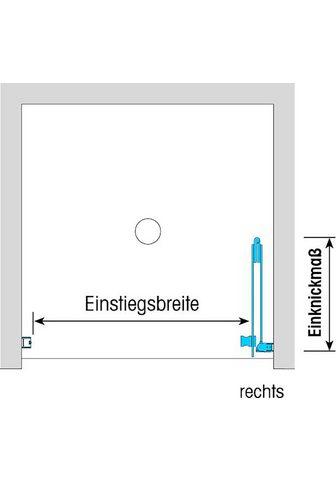 Dusbad Falttür »Vital 1 dėl Nische« Einscheib...