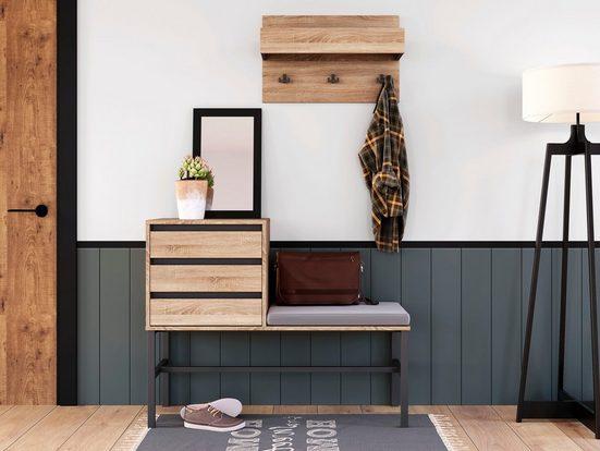 INOSIGN Garderoben-Set »Selune«, (Set, 2-tlg), aus Holzwerkstoff und Metall
