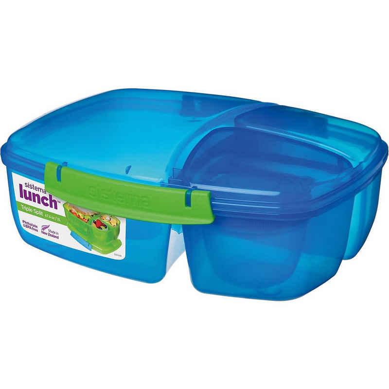 sistema Brotschale »Triplesplit Lunchbox, 3-fach unterteilt, pink«