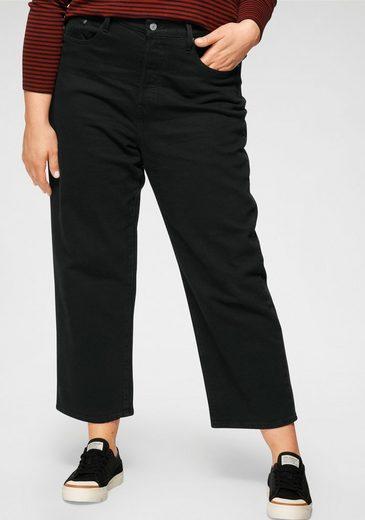 Levi's® Plus Ankle-Jeans »Ribcage Straight Ankle« mit geknöpftem Hosenschlitz
