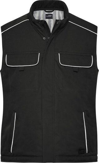 James & Nicholson Softshellweste »Workwear Softshell Padded Weste -Solid- FaS50885 auch in großen Größen«