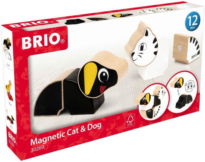 BRIO® Greifspielzeug »Hund und Katze«, FSC®-Holz aus gewissenhaft bewirtschafteten Wäldern