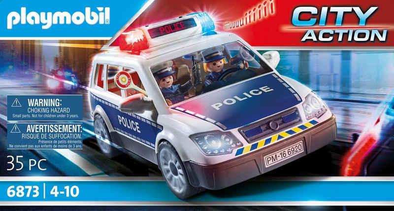 Playmobil® Konstruktions-Spielset »Polizei-Einsatzwagen (6873), City Action«, (35 St), Made in Germany