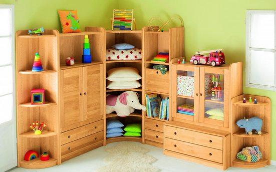 BioKinder - Das gesunde Kinderzimmer Eckregal »Lara«, Ecklösung 200 cm mit 4 Einlegeböden