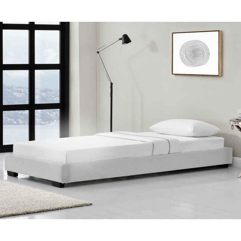 Corium Polsterbett, »Masari« Modernes Bett 90x200cm mit Lattenrost weiß Kunstleder